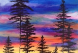 Forest Sunset on Canvas with Merry Lanker (Cocktails and Creation - 21 and up)