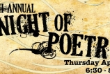 "10th Annual ""A Night of Poetry"" Scheduled for April 10, 2014"
