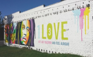Bob Marley-One Love Mural