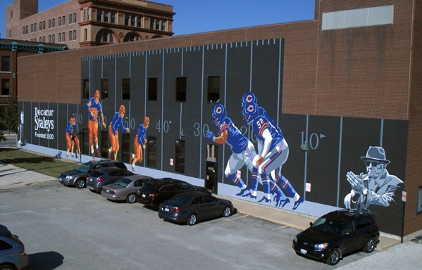 Decatur Staleys football mural